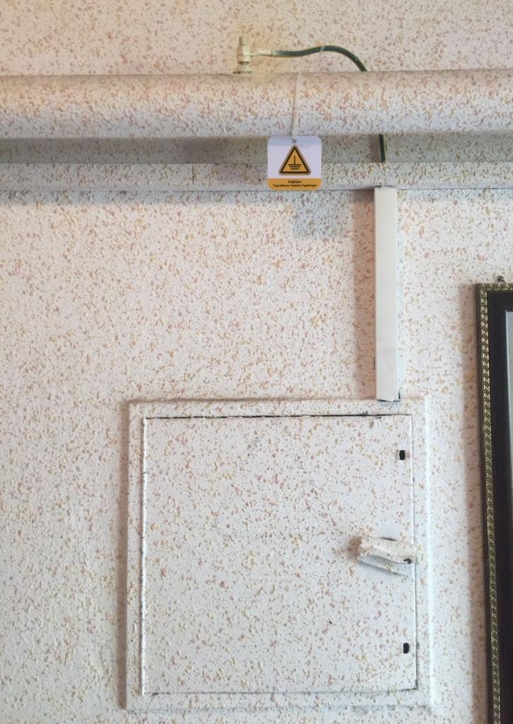 Elektrik Kofresinden Doğalgaz Topraklama Montajı